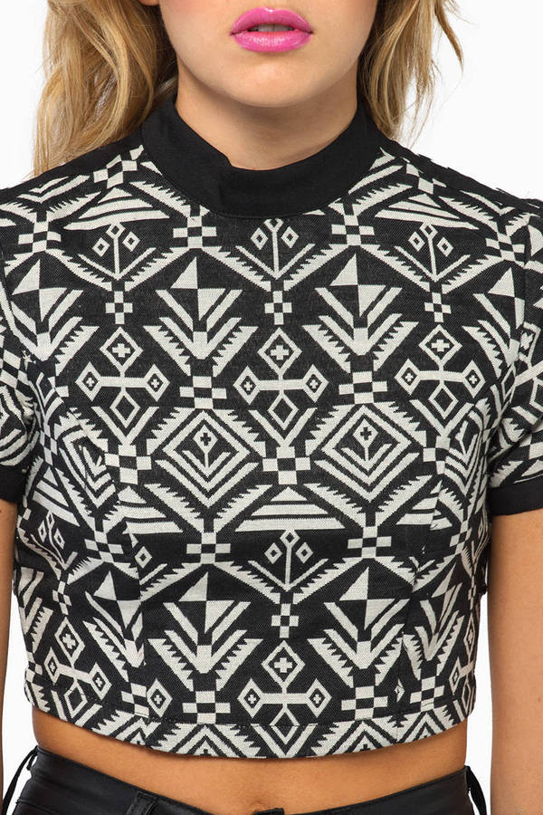 Name That Tribal Crop Top