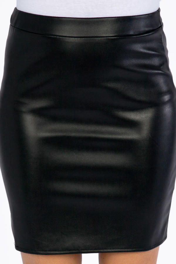 Off Limits Vegan Leather Skirt