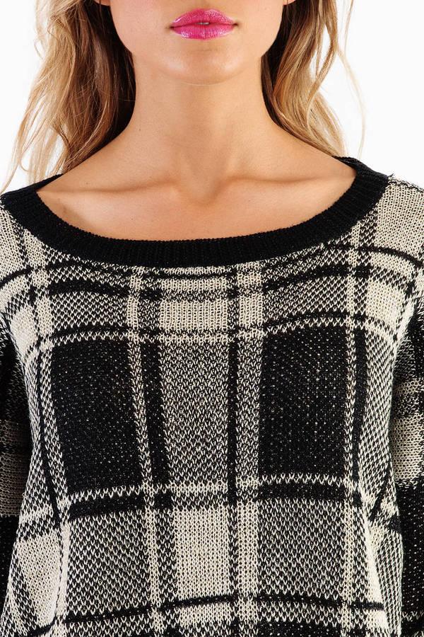 Pierce Plaid Sweater