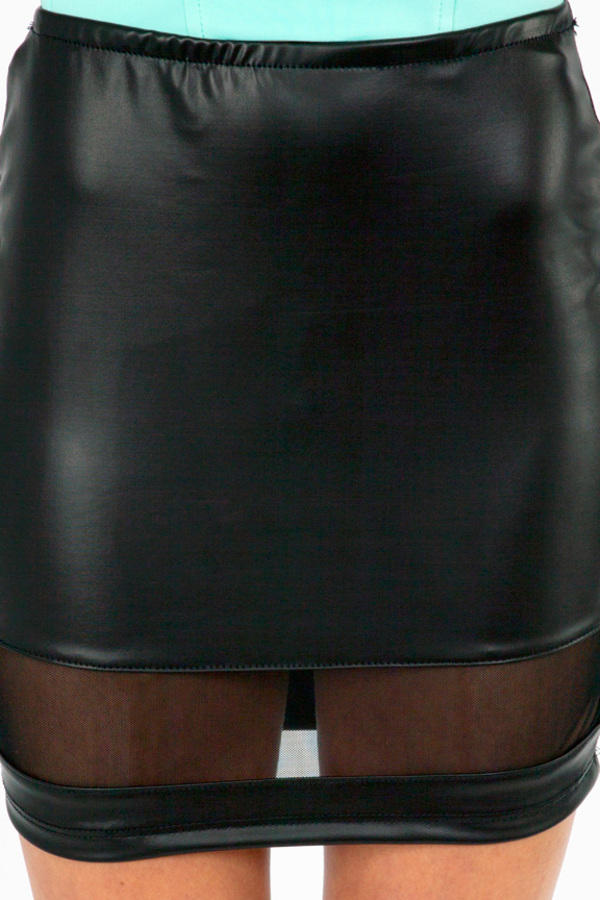 See You Leather Skirt