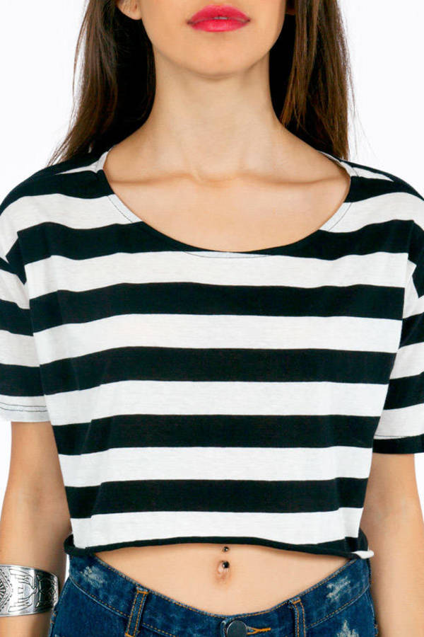 Amiga Striped Crop Top