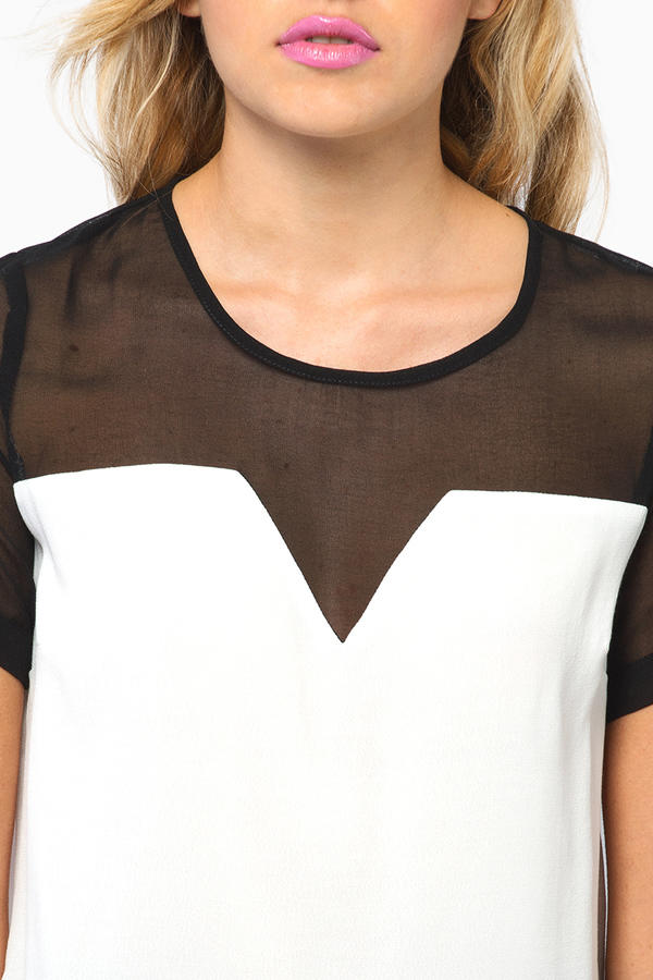 Cathy Contrast Top