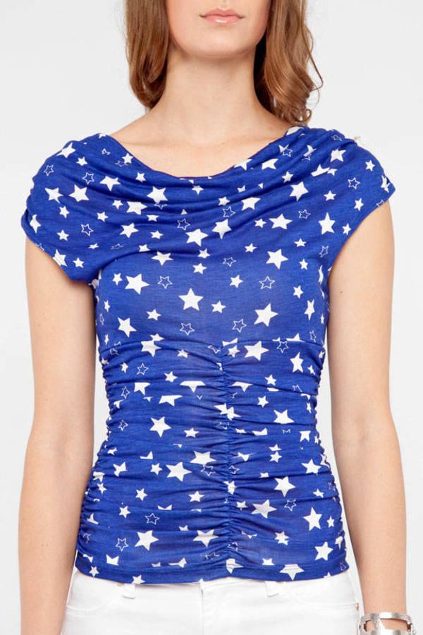 Cowl Neck Stars Top