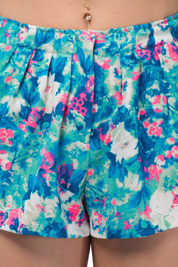 Lazy Twins Floral Summer Shorts