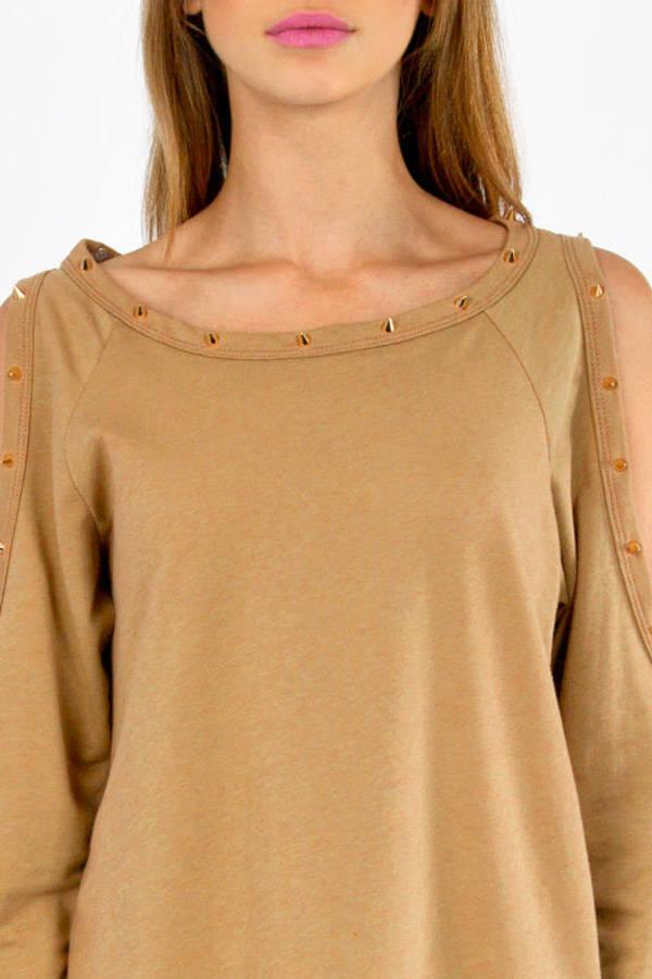 Spikey Open Shoulder Sweater