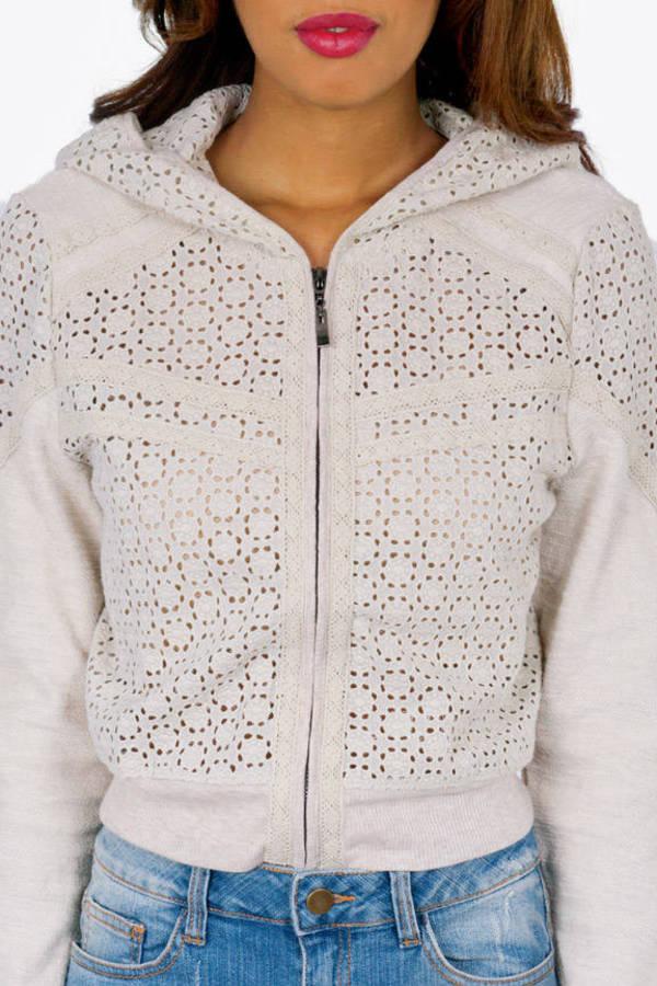 Crochet Bomber Jacket