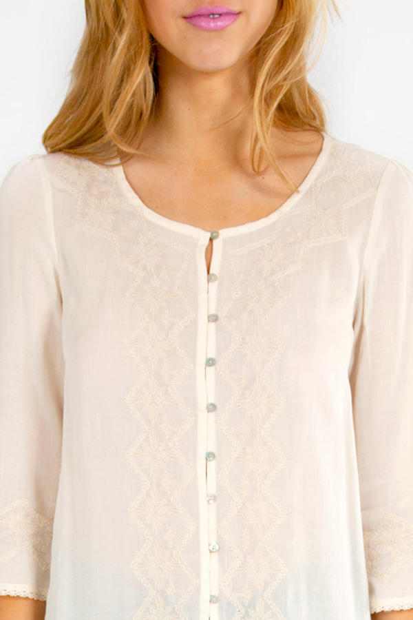 Shai Embroidered Top