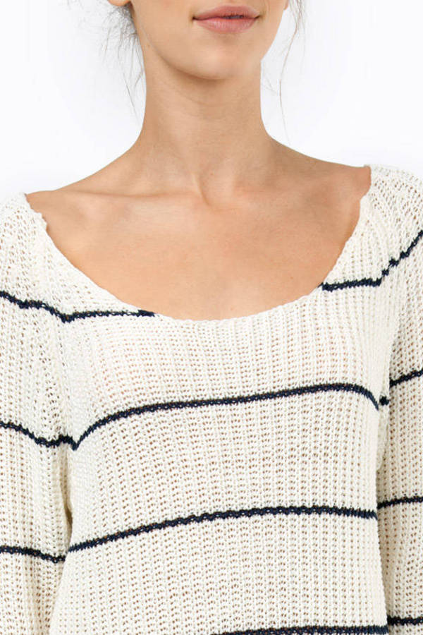 Striping Resemblance Knit Sweater