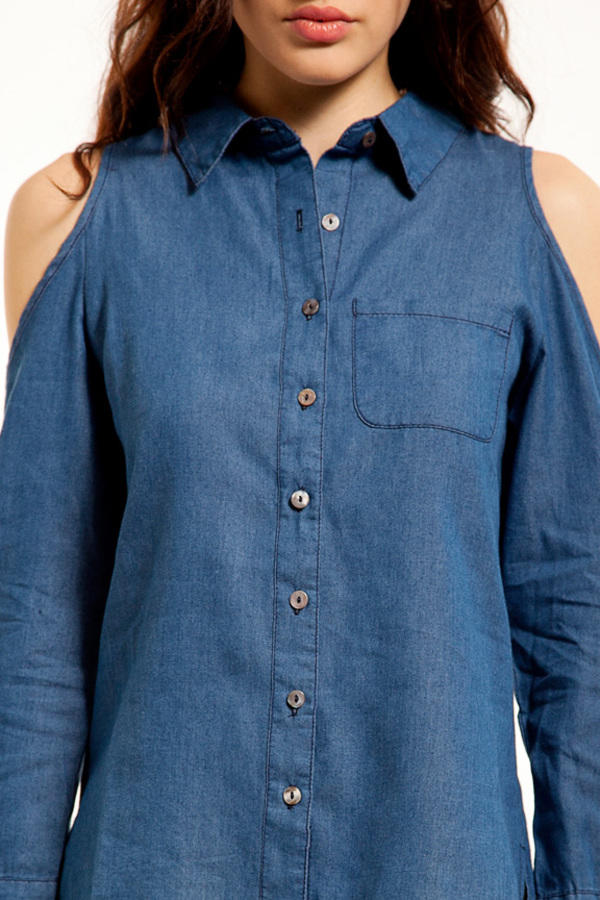 Hole In One Denim Button Up Shirt