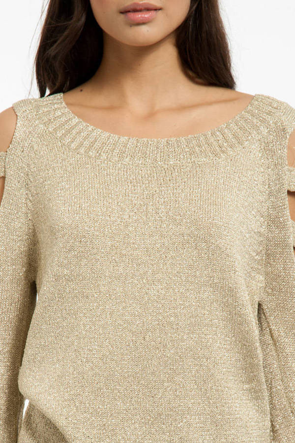 Shimmer Ladder Sweater