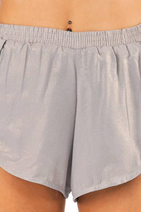 Rehab Clothing Metallic Shorts