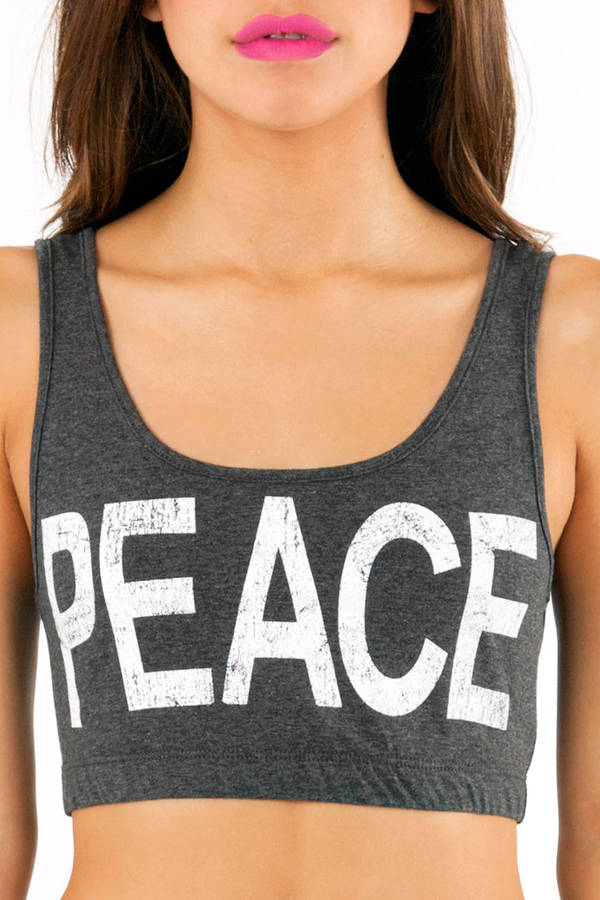 Peace Out Crop Top