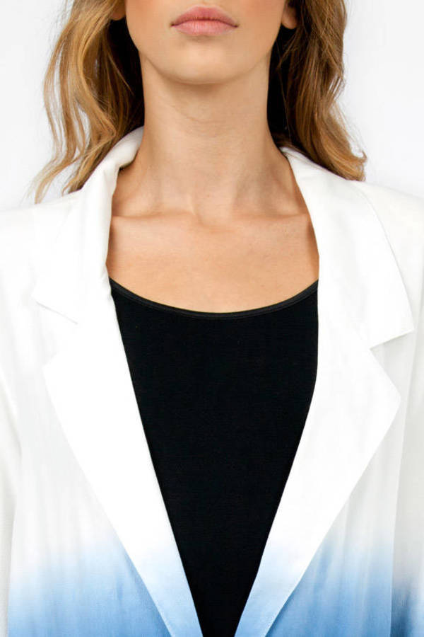 MINKPINK Great White Soft Blazer