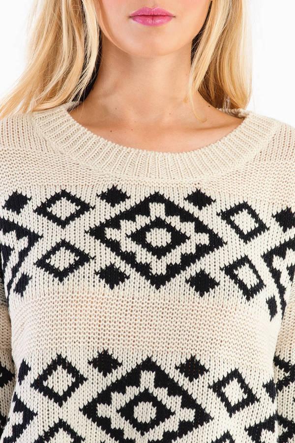 Born Two Tone Aztec Sweater