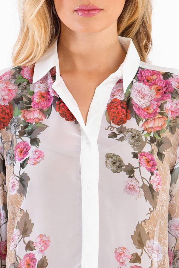 Floral Scent Button Down