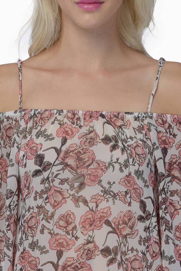 Mod Rose Cold Shoulder Top