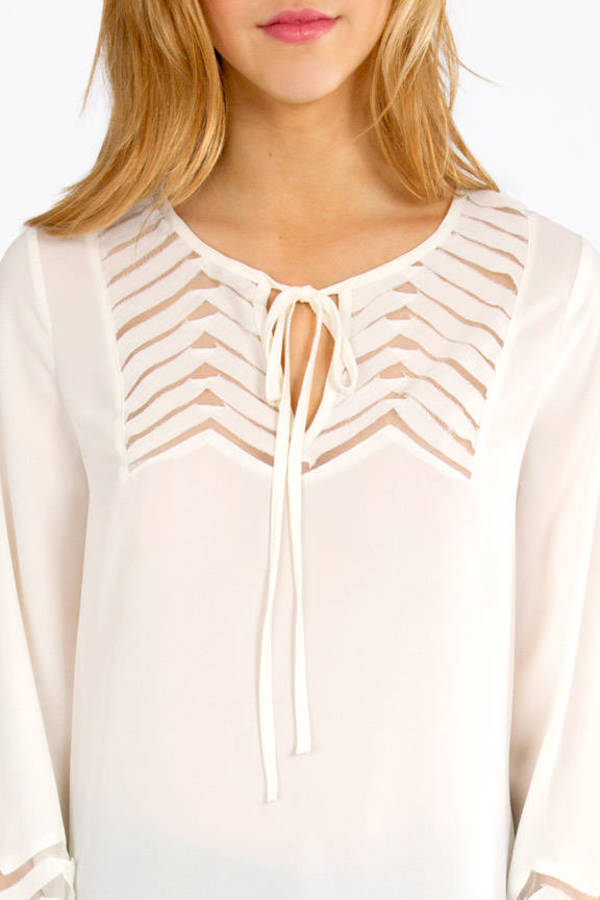 Happy We Mesh Blouse