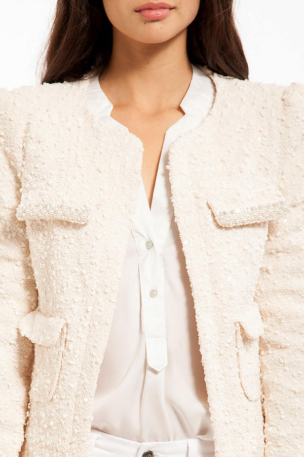 Pearls for Tweed Blazer