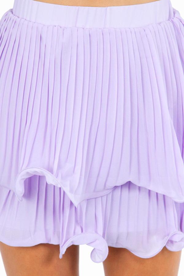 Double Layer of Pleats Skirt