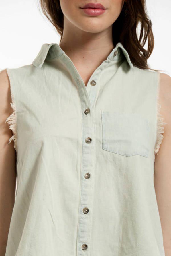 Fraying Out Denim Shirt