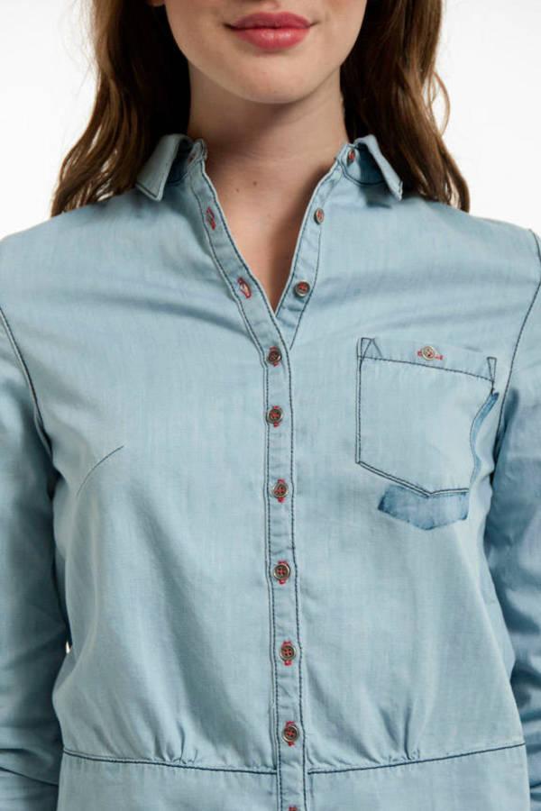 Shadow Pocket Denim Shirt
