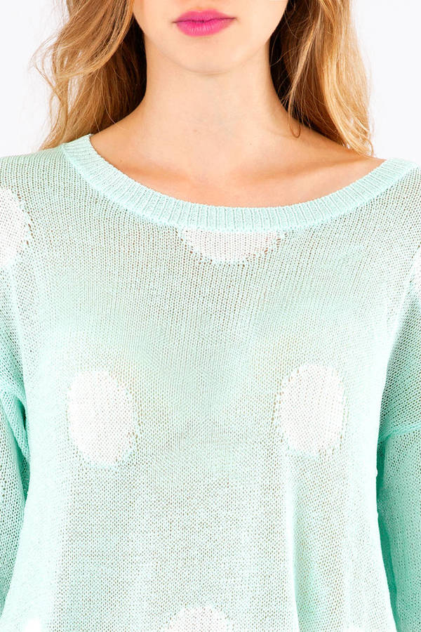 Elaine Ripped Dot Sweater