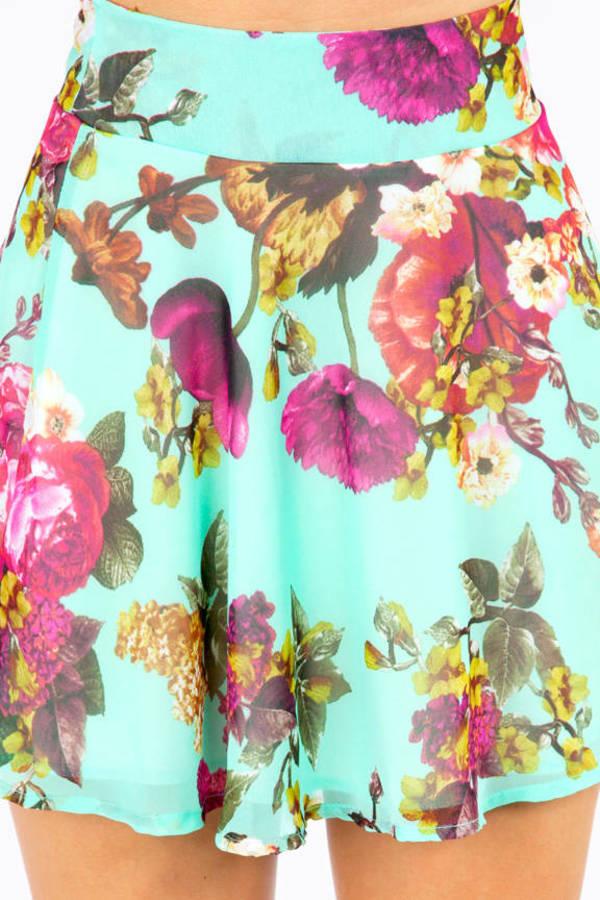 Fairly Flowering Skater Skirt