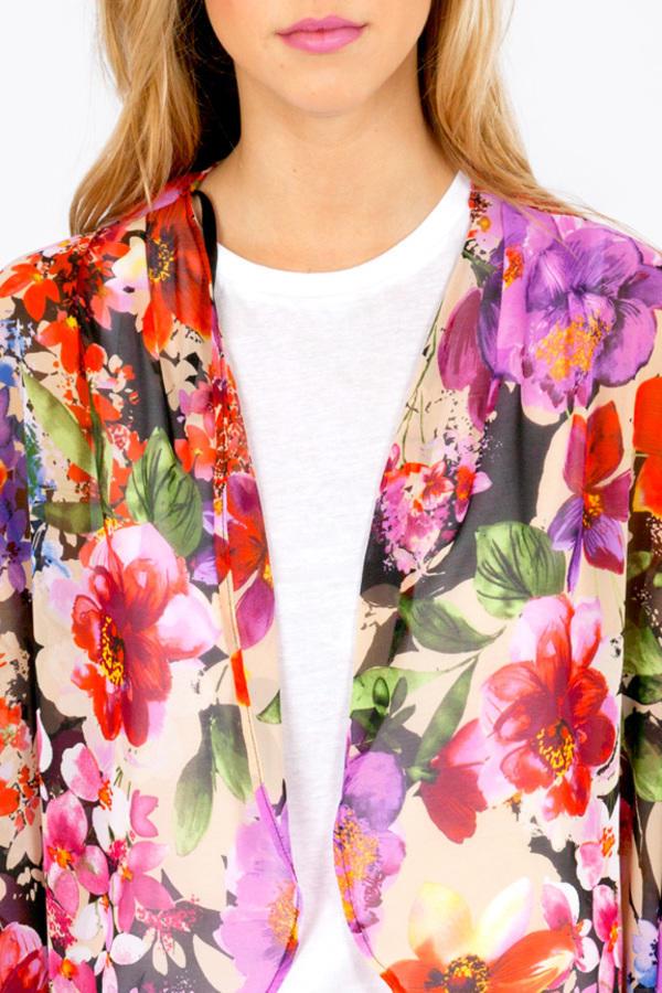 Flirty Floral Kimono Wrap