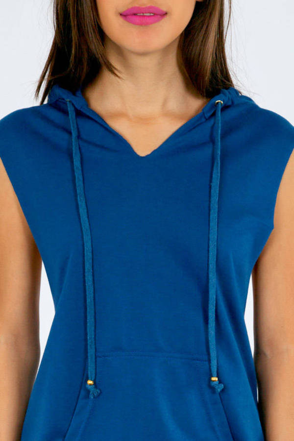 Christy Cutoff Sweater w/Hoodie