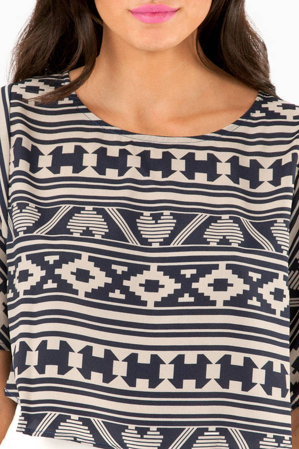 Departures Tribal Crop Top
