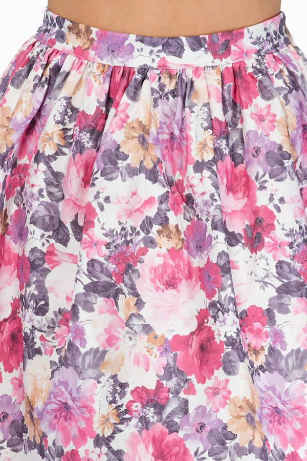 In Full Bloom Skater Skirt
