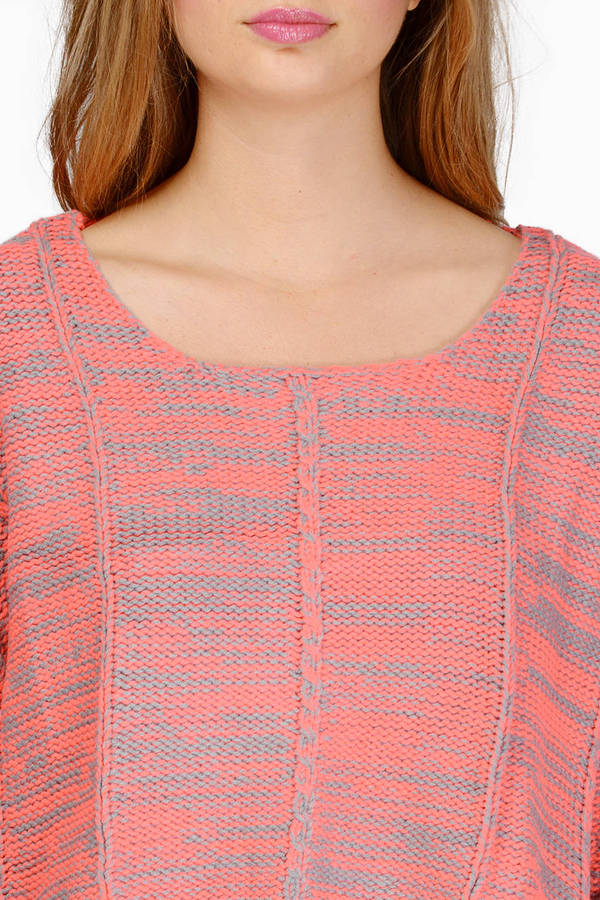 Pink Multi Sweater - Pink Sweater - Knitted Sweater - USD17.00