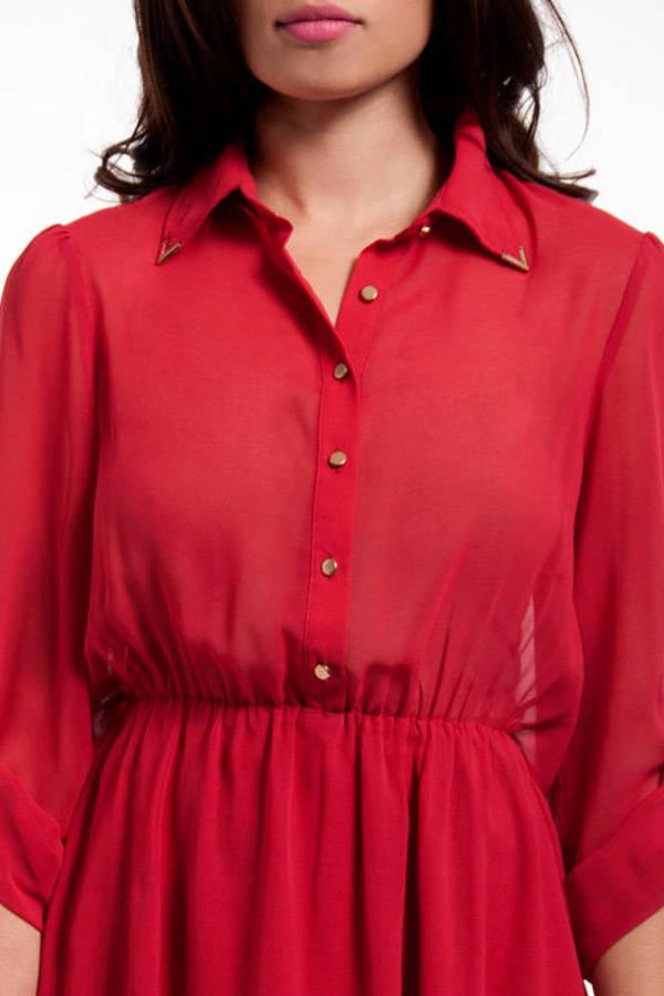 Tessa Open Back Shirt Dress