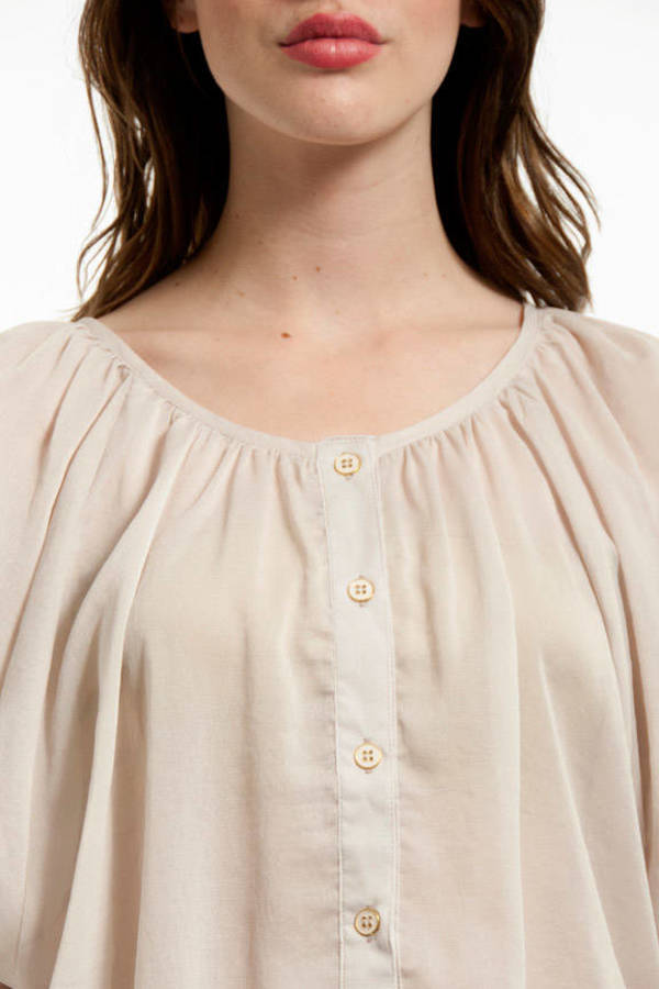 mono B Courtney Pouf Blouse