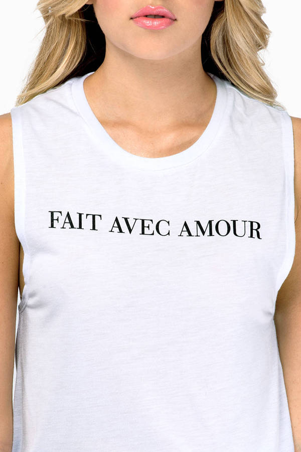 Love+Made Amour Muscle Tank Top