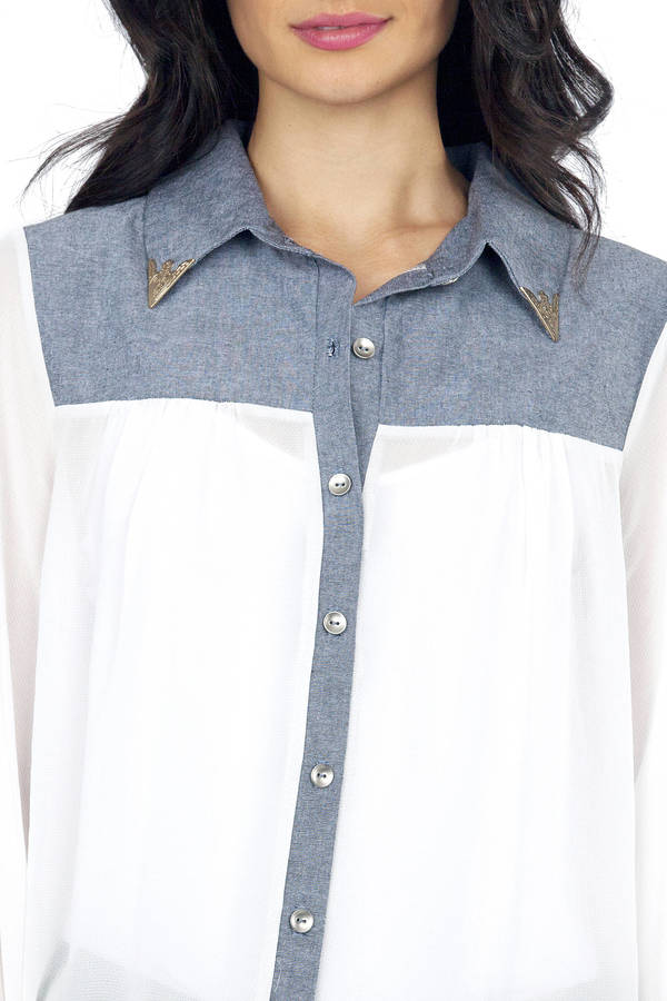 Western Dame Button Up Blouse