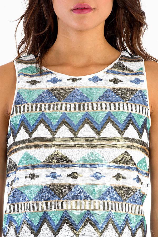 Aztec Sequin Top