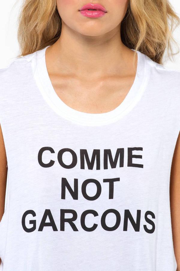BLQ BASIQ Comme Not Garcons Tank