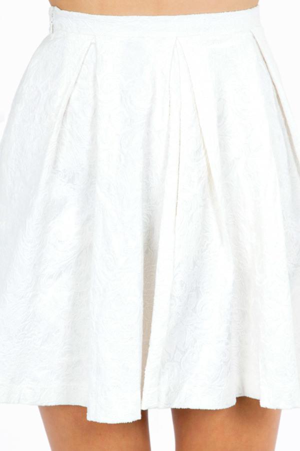 Elisa Embossed Skater Skirt