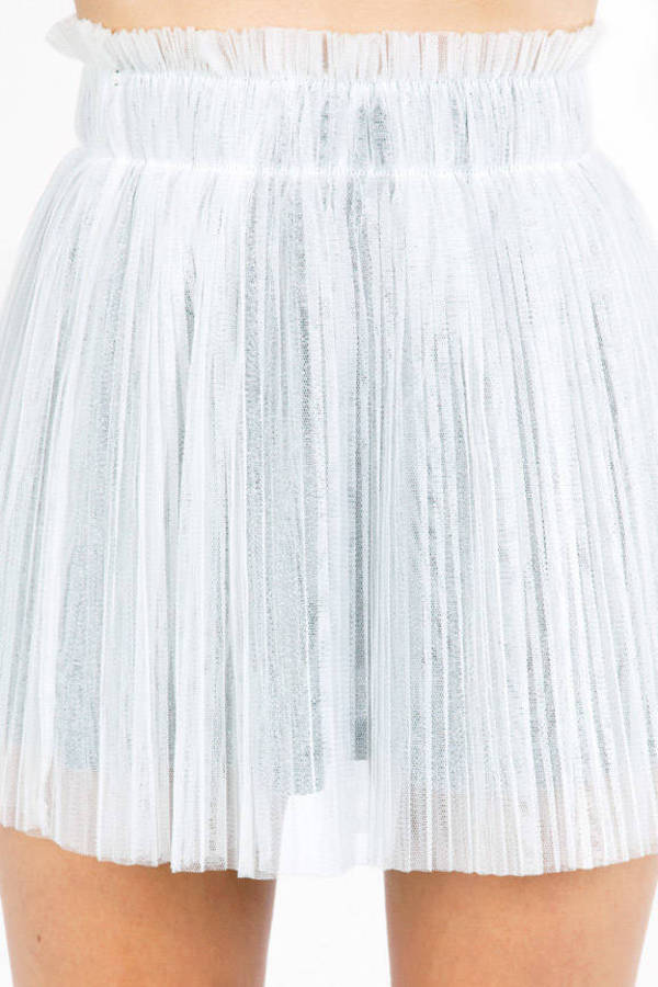 Legally Pleated Tulle Skirt