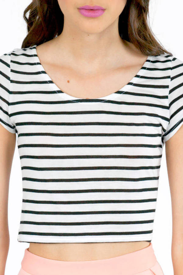 Line Drive Cropped T-Shirt