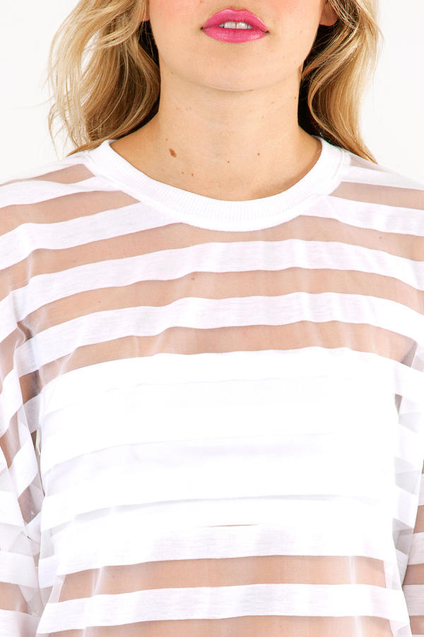 Mesh Around & Stripe Up Top