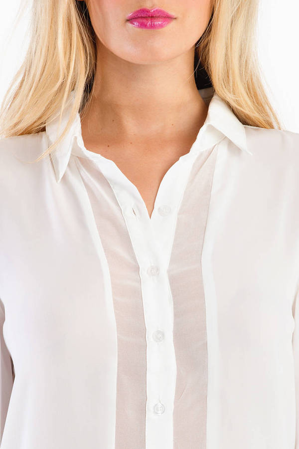 Sheer Me On Blouse