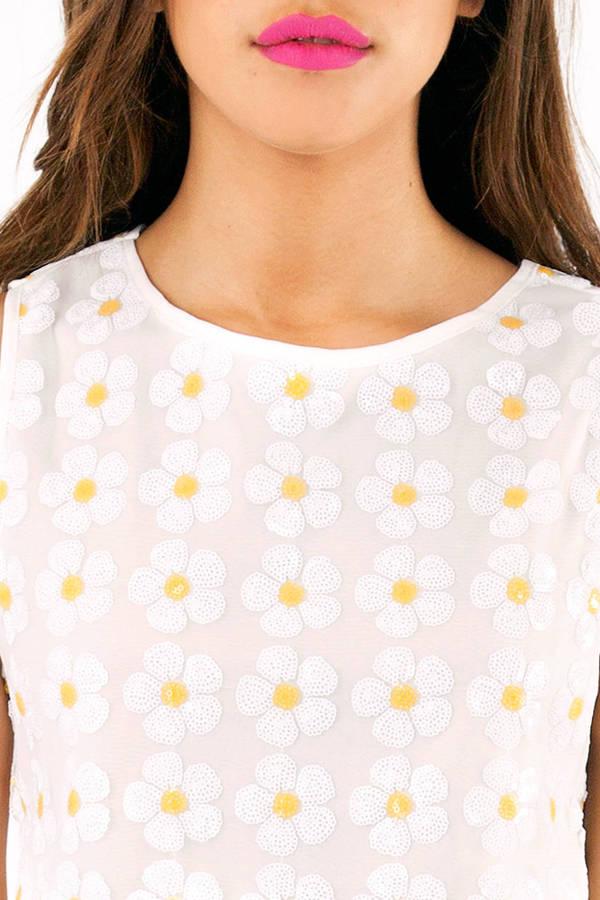 Miss Daisy Sequin Crop Top