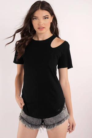 b4b45c63adc Black Crop Top - Black Top - Ribbed Top -  7