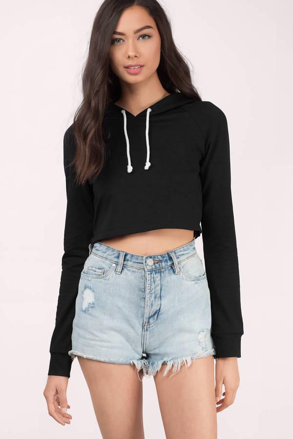 Cropped hoodies