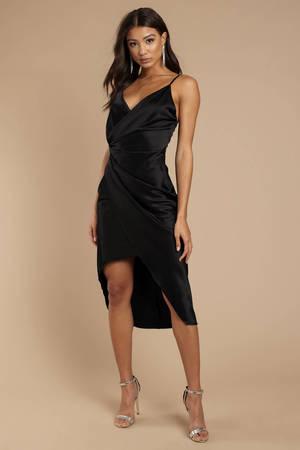 39b5327e870 Black Dress - Sleeveless Dress - Stunning Black Dress - Midi Dress ...