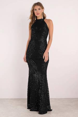 Sequin Dresses Gold Black Long Sleeve Short Sequin