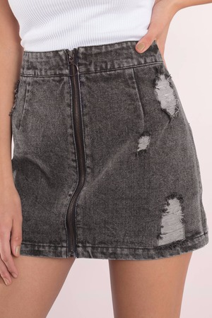 Denim Skirt - Denim Skirts Mini - Jean Mini Skirt - Black Denim ...