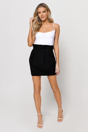 Trendy Black Skirt - Black Skirt - High Waisted Skirt - $58.00